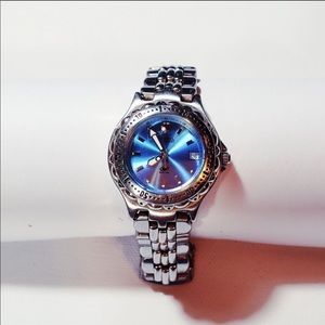 FOSSIL stainless steel blue water resistant watch
